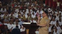 Menteri Dalam Negeri (Mendagri) Tito Karnavian dalam Rapat Kerja Percepatan Penyaluran dan Pengelolaan Dana Desa Tahun 2020 di Holy Stadium Kompleks Grand Marina, Kota Semarang