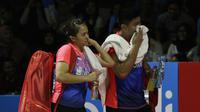 Ganda campuran Indonesia Praveen Jordan / Melati Daeva Oktavianti di Piala Sudirman 2019. (twitter.com/INABadminton)
