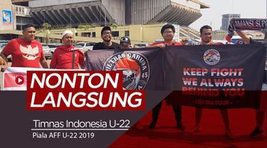 Berita video vlog Bola.com kali ini menunggu pertandingan semifinal Piala AFF U-22 2019, Timnas Indonesia vs Vietnam.