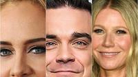 Adele, Robbie William, dan Gwyneth Paltrow memiliki cara diet berbeda untuk menurunkan berat badannya (Dok.Liputan6.com)