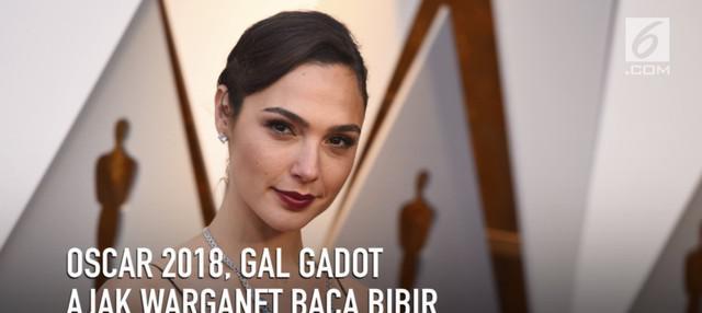 Gal Gadot menjadi salah satu aktris yang menghadiri ajang Piala Oscar 2018.