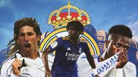 Real Madrid - Sergio Ramos, Eduardo Camavinga, Vinicius Junior (Bola.com/Adreanus Titus)