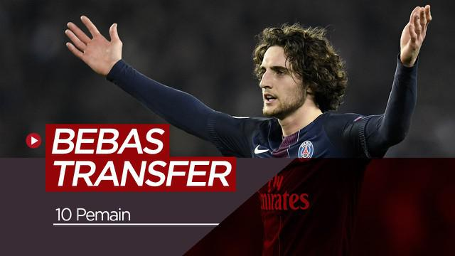Berita video para pemain yang berstatus bebas transfer para bursa transfer musim panas 2019.