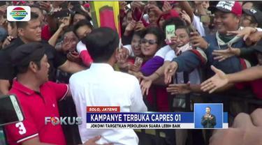 Kampanye di Padalarang, Jokowi menargetkan perolehan suara di Jawa Tengah harus lebih baik daripada tahun 2014.