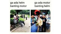 Berbagai hal bisa dijadikan meme menarik, tidak terkecuali yang berkaitan dengan otomotif. (ist)