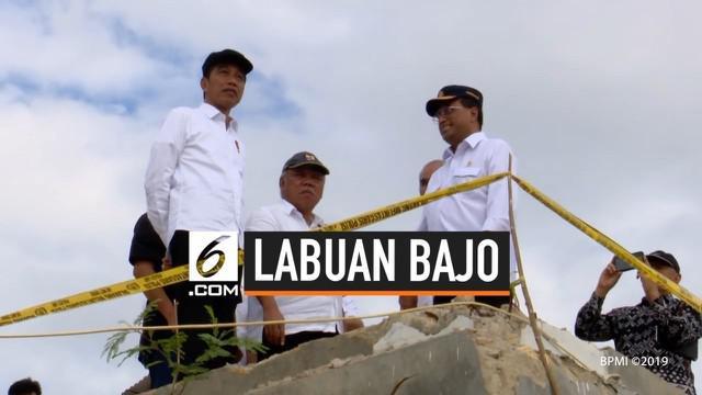 Presiden Joko Widodo meninjau kawasan Puncak Waringin di Labuan Bajo, Kabupaten Manggarai Barat, Nusa Tenggara Timur (NTT), pada Rabu, 10 Juli 2019. Kawasan yang ditinjau olehnya dalam kunjungan kerja kali ini nantinya akan dikembangkan dan ditata me...