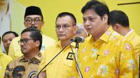 Ketua Umum Partai Golkar Airlangga Hartarto, di Kantor DPP Partai Golkar. (Istimewa)