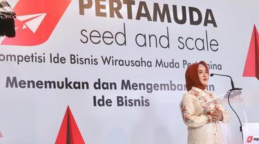 Nicke Widyawati, Direktur Utama Pertamina dalam peluncuran Pertamuda di Denpasar