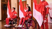 Pengukuhan dan pelepasan atlet Indonesia yang akan berjuang di Paralimpiade Tokyo 2020 oleh Menteri Pemuda dan Olahraga, Zainudin Amali, yang digelar secara virtual, Sabtu (14/8/2021). (Istimewa)