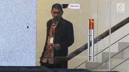 Direktur Utama PT INTI Darman Mappangara usai menjalani pemeriksaan oleh penyidik di Gedung KPK, Jakarta, Jumat (30/8/2019).  Darman Mappangara diperiksa sebagai saksi untuk tersangka Direktur Keuangan PT Angkasa Pura II nonaktif Andra Y Agussalam.  (merdeka.com/Dwi Narwoko)