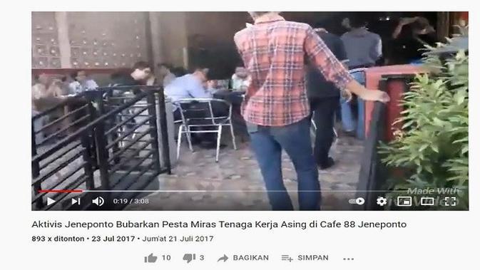 Gambar Tangkapan Layar Video dari Channel YouTube HMI Cabang Jeneponto.