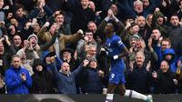 Tammy Abraham pecahkan kebuntuan Chelsea di babak kedua saat melawan Crystal Palace (AFP)