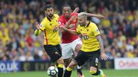 Anthony Martial dijaga ketat pemain Watford (AP Photo/Tim Ireland)