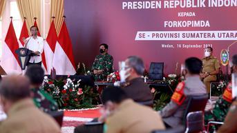 Beri Pengarahan ke Forkopimda se-Sumut, Jokowi Minta Segera Habiskan Stok Vaksin Covid-19