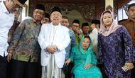 Ditemani Mahfud Md, Ma'ruf Amin silaturahmi ke keluarga Gus Dur. (Merdeka.com/Ahda Bayhaqi)