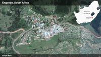Peta kawasan Engcobo, tempa markas polisi diserang sekelompok orang bersenjata dan menelan 6 korban jiwa. (Google Maps)