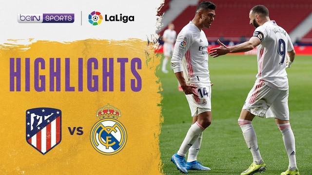Berita video highlights Liga Spanyol 2020/2021 antara Atletico Madrid melawan Real Madrid yang berakhir imbang 1-1, di mana Luis Suarez dan Karim Benzema mencetak gol dalam laga tersebut, Minggu (7/3/2021) malam hari WIB.