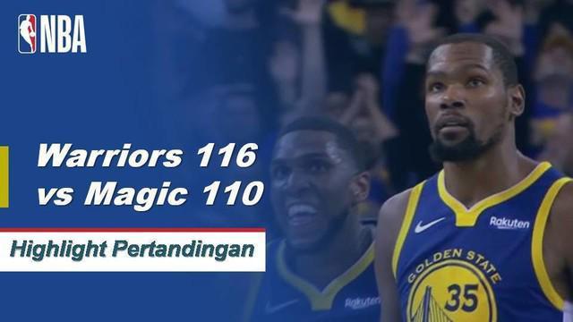 Kevin Durant meledak untuk 49 poin untuk memimpin Golden State di Orlando, 116 - 110