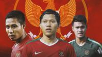 Timnas Indonesia - Evan Dimas, Adam Alis, dan Muhammad Rafli (Bola.com/Adreanus Titus)