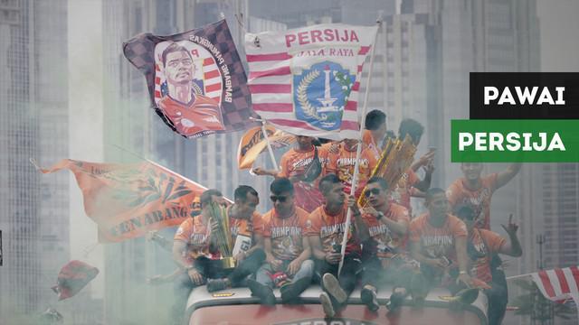 The Jakmania membanjiri kota Jakarta pada pesta juara Persija Jakarta.