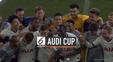 Tottenham Hotspur keluar sebagai juara Audi Cup 2019 setelah mengalahkan Bayern Munchen melalui drama adu penalti.
