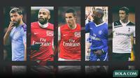 Kolase - 5 Penyerang di Premier League (Bola.com/Adreanus Titus)
