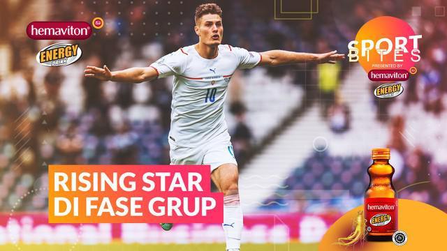 Berita video Sport Bites kali ini membahas para rising star di fase grup Euro 2020, termasuk striker Patrik Schick.