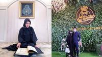 Penampilan baru Syahrini (kiri), Syahrini bersama Reino Barack (kanan). (Instagram/@princessyahrini)