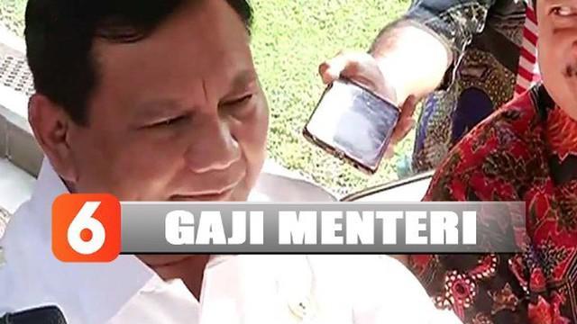 Prabowo Subianto angkat bicara mengenai isu tak mau menerima gaji dan fasilitas usai jadi menteri pertahanan.