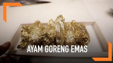Sebuah restoran menyajikan menu ayam goreng yang dibalut dengan bumbu serta ditaburi dengan serbuk emas 24 karat. Dalam satu porsinya, ayam goreng emas ini dibanderol harga sekitar 1000 dolar atau sekitar Rp 14 juta.