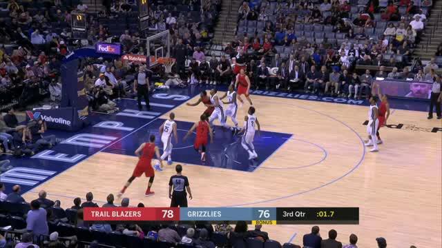 Berita video game recap NBA 2017-2018 antara Memphis Grizzlies melawan Portland Trail Blazers dengan skor 108-103.