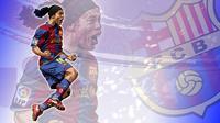 Ronaldinho saat membela Barcelona. GORILASPORT