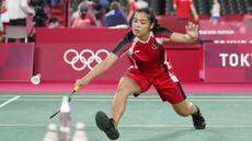Langkah tunggal putri Indonesia, Gregoria Mariska Tunjung, terhenti di babak 16 besar Olimpiade Tokyo 2020. (Foto: AP/Markus Schreiber)