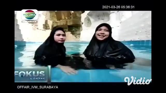 Lahan bekas tambang galian batu kapur di Gresik, Jawa Timur, yang sudah tidak beroperasi, oleh warga setempat dimanfaatkan menjadi kolam pemandian bernuansa alam. Menariknya kolam renang tersebut diperuntukkan khusus bagi kaum wanita yang berhijab.