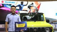 Suzuki meraih kebanggaan dalam partisipasinya pada GIIAS 2018 dengan terpilihnya Suzuki Jimny Sierra sebagai pemenang pertama untuk kategori Special Exhibit Passenger Car.