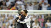 Cristiano Ronaldo dan Carlo Ancelotti (Javier Soriano/AFP)