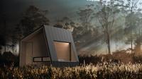 Desain kabin di tengah hutan yang diluncurkan Bobobox. (dok. Bobobox)