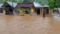 Banjir bandang menerjang wilayah Kabupaten Boalemo, Gorontalo (Arfandi Ibrahim/Liputan6.com)