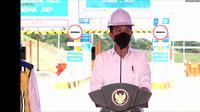 Presiden Jokowi meresmikan Tol Balikpapan-Samarinda (Balsam) Seksi 1 Balikpapan (Km 13)-Samboja sepanjang 22,03 km dan Seksi 5 Sepinggan-Balikpapan (Km 13) sepanjang 11,09 km.