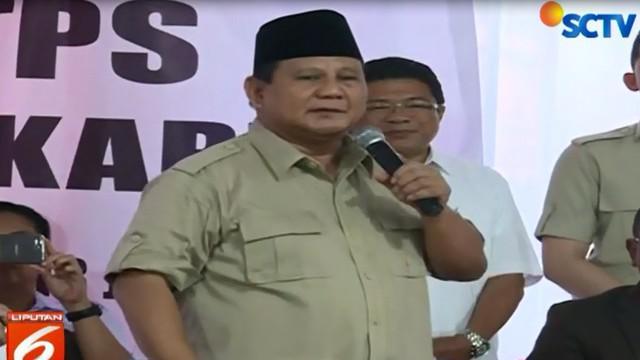 Prabowo juga meminta para relawan mengawasi TPS pada hari pencoblosan 17 April 2019 nanti.