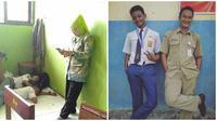 Kelakuan Nyeleneh Siswa Saat Terciduk Guru Ini Bikin Kangen Sekolah (sumber:Instagram/anakrantauu_81 dan guyonankekinian)