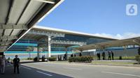 Suasana di Bandara Internasional Yogyakarta (YIA), Rabu (11/11/2020). Proses pengecatan yang menghabiskan 300 ribu liter cat pelapis pada seluruh rangka baja dikerjakan oleh AkzoNobel Decorative Paints Indonesia dan AkzoNobel Performance Coatings Indonesia. (Liputan6.com/Pool)