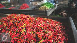 Harga komoditas cabai dan bawang merah mengalami kenaikan seiring dengan kondisi cuaca yang tidak menentu, Jakarta, Selasa (26/7). (Liputan6.com/Angga Yuniar)