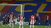 Selebrasi Ivan Rakitic saat Barcelona melawan Bilbao (AP)