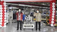 PT Mitsubishi Krama Yudha Indonesia (MMKI) mulai produksi mesin Mitsubishi Xpander. (Mitsubishi)