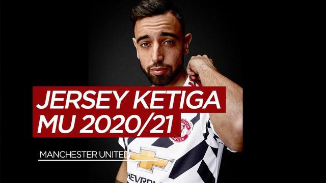 Berita Video Manchester United Rilis Jersey Ketiga Musim 2020/2021, David Beckham dan Bruno Fernandes Jadi Modelnya