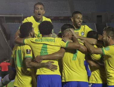 Edinson Cavani Kartu Merah, Brasil Hajar Uruguay 2-0 di Kualifikasi Piala Dunia