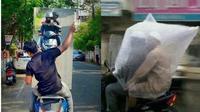 6 Kelakuan Bapak-Bapak saat Dibonceng di Motor Ini Kocak  (sumber: Instagram.com/ngakakkocak)