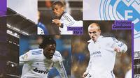 Real Madrid - Emmanuel Adebayor, Samuel Eto'o, Esteban Cambiasso (Bola.com/Adreanus Titus)