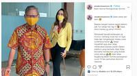 Achmad Yurianto dan dr Reisa Broto Asmoro. (Instagram.com/reisabrotoasmoro)